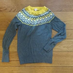 Yellow and Grey Fairisle Sweater